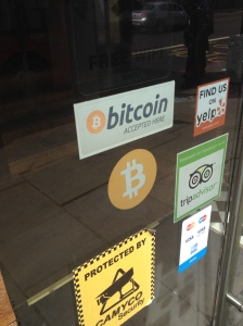 The Bitcoin ATM at the Vape Lab meet-up in Shoreditch.