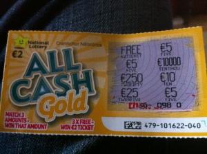 Bitcoin mining lottery ticket