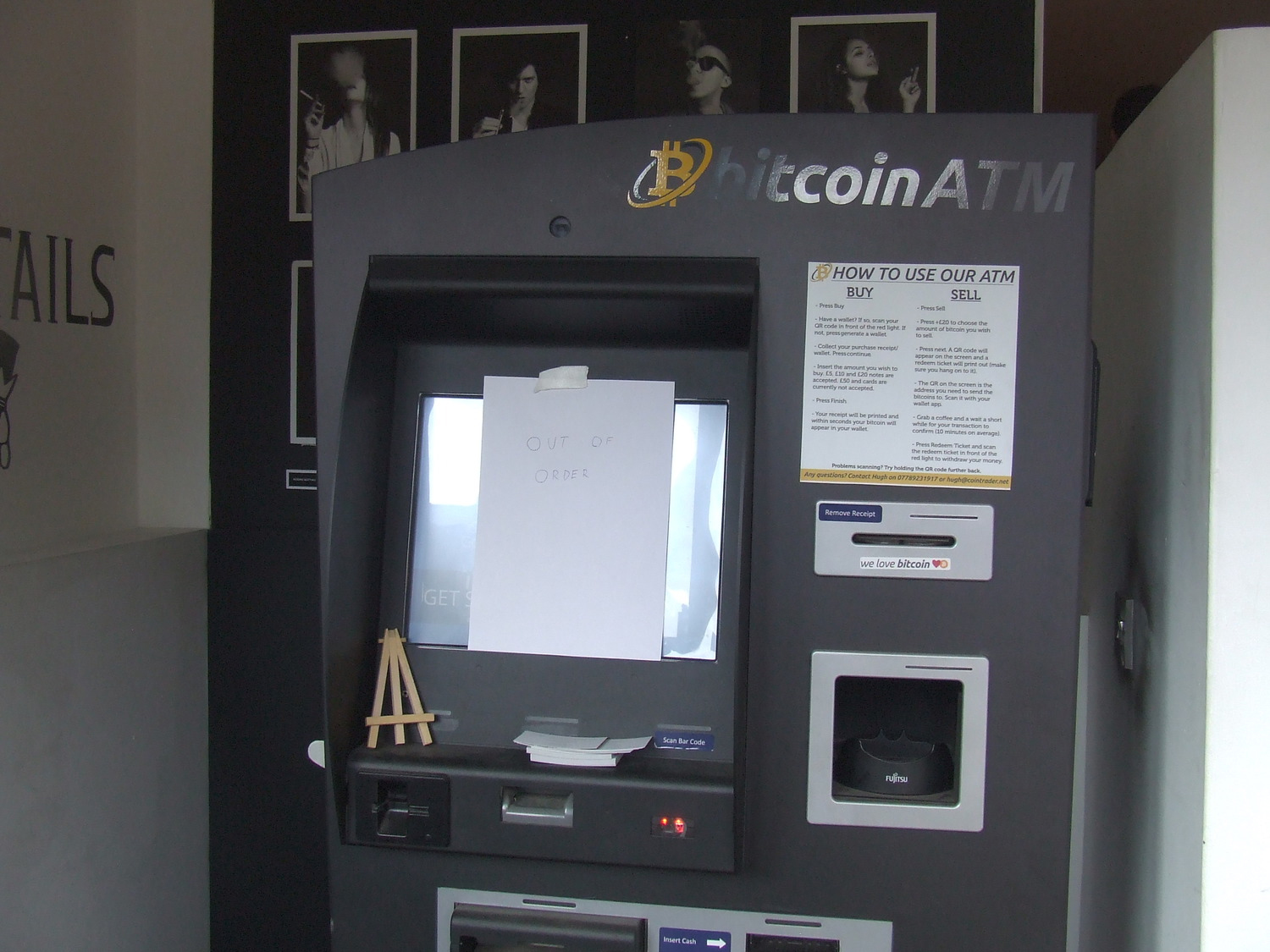 London bitcoin atm breaks but does anybody care cryptocity the broken bitcoin atm at the vape lab shoreditch ccuart Images