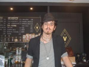 Vape lab barman Claudio Ravinelli